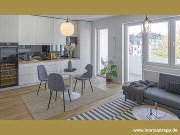 Stilvoll und hochwertige eingerichtete 3‑Zimmer-Wohnung mit gemütlichen Balkon im Szene-Viertel Bilk, 40223 Düsseldorf, Etagenwohnung